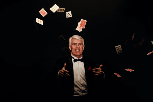 Lowell-Sheets-Magician-Flying-Cards